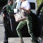 Irina Shayk in a Camouflage Leggings