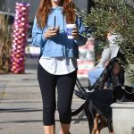 Isla Fisher in a Blue Hoody