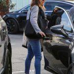Jennifer Garner in a Gray Blazer