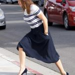 Jennifer Garner in a Striped Blouse
