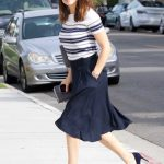 Jennifer Garner in a Striped Blouse