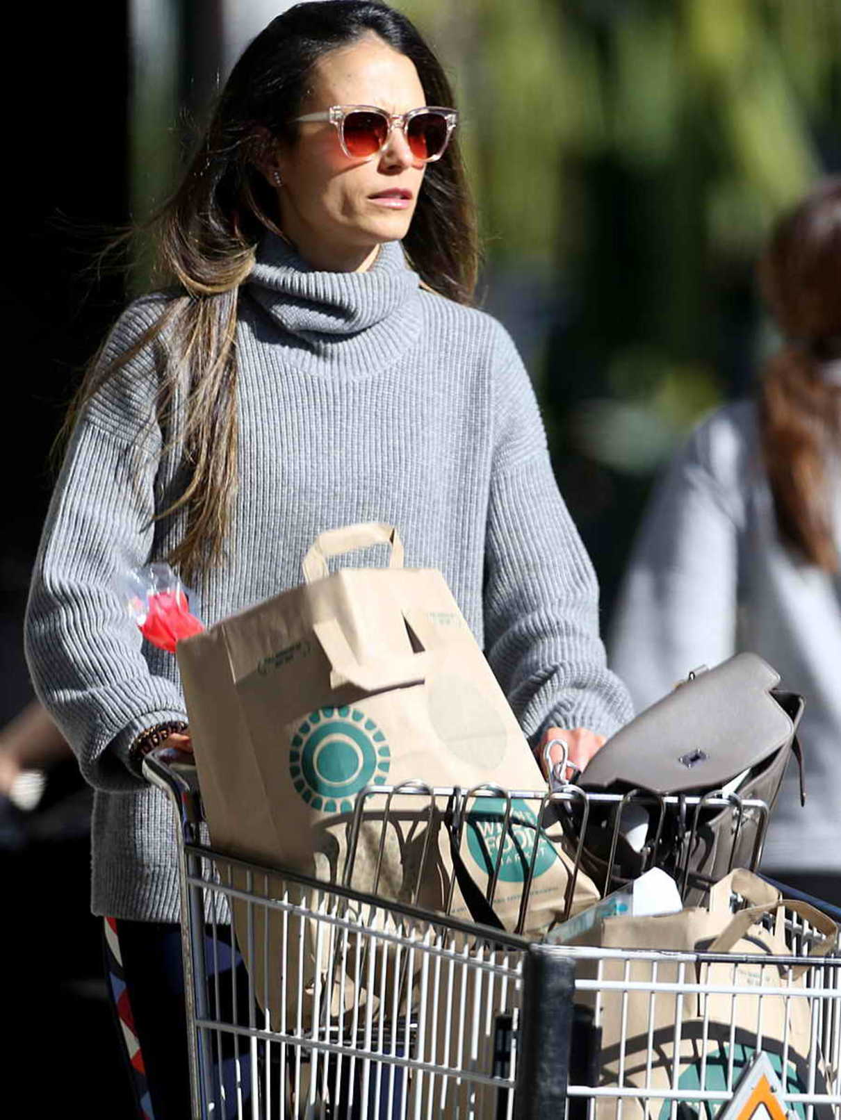 Jordana Brewster in a Gray Sweater