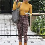 Julianne Hough in a Yellow Turtleneck