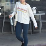 Kristen Bell in a White Long Sleeves T-Shirt