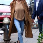 Lindsay Lohan in a Beige Coat Leaves Her Apartment in New York City 01/10/2019