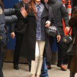 Lindsay Lohan in a Black Coat Was Seen Out in New York City 01/07/2019
