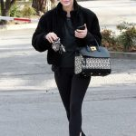 Lucy Hale in an All Black Outfit