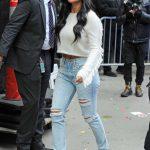 Nicole Scherzinger in a Blue Ripped Jeans