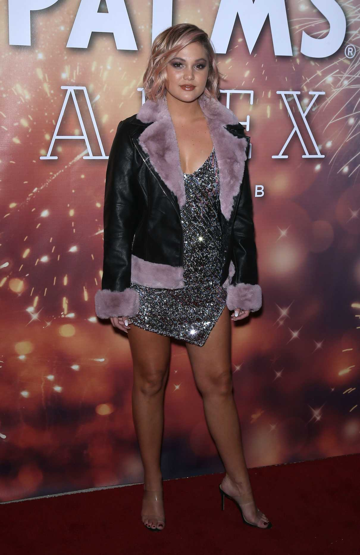 OLIVIA HOLT at New Years Eve at Apex Social Club in Las