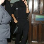 Victoria Beckham in a Black Turtleneck Leaves London's Aldwych Theatre in London 01/15/2019