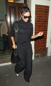 Victoria Beckham in a Black Turtleneck