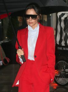 Victoria Beckham in a Red Suit