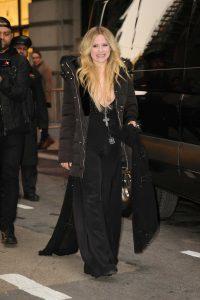 Avril Lavigne in a Black Puffer Jacket