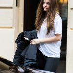 Barbara Palvin in a White T-Shirt