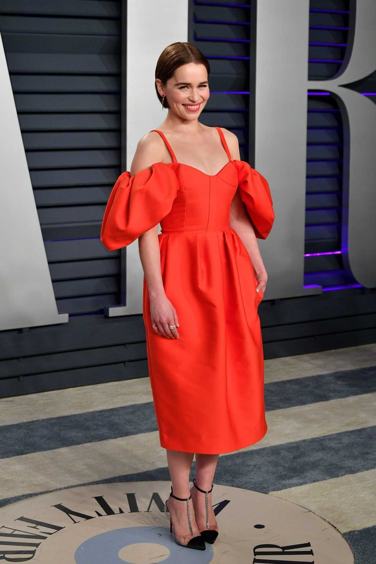 Emilia Clarke Attends Vanity Fair Oscar Party in Beverly ...