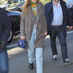 Gigi Hadid in a Gray Coat