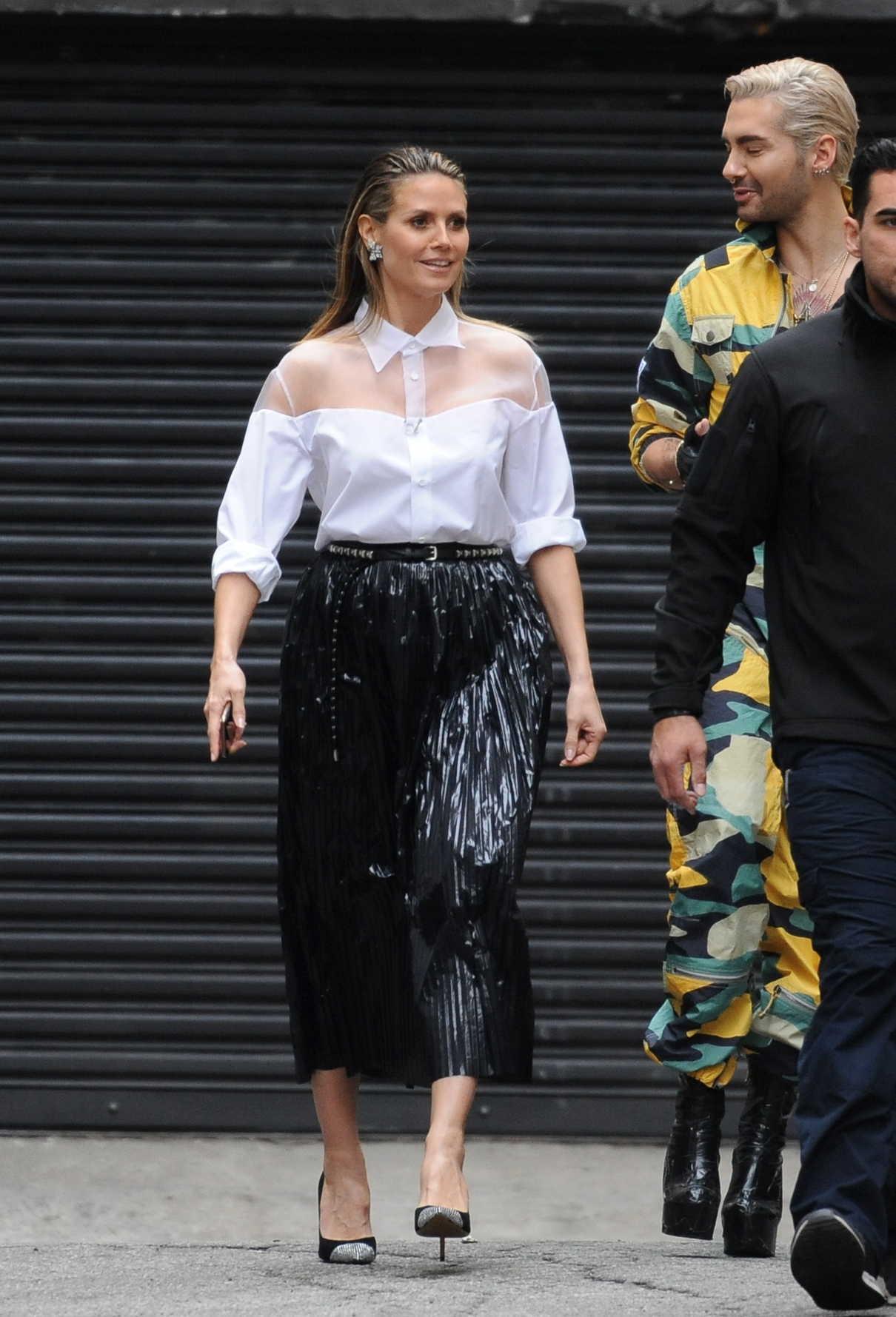 Heidi Klum in a White Blouse