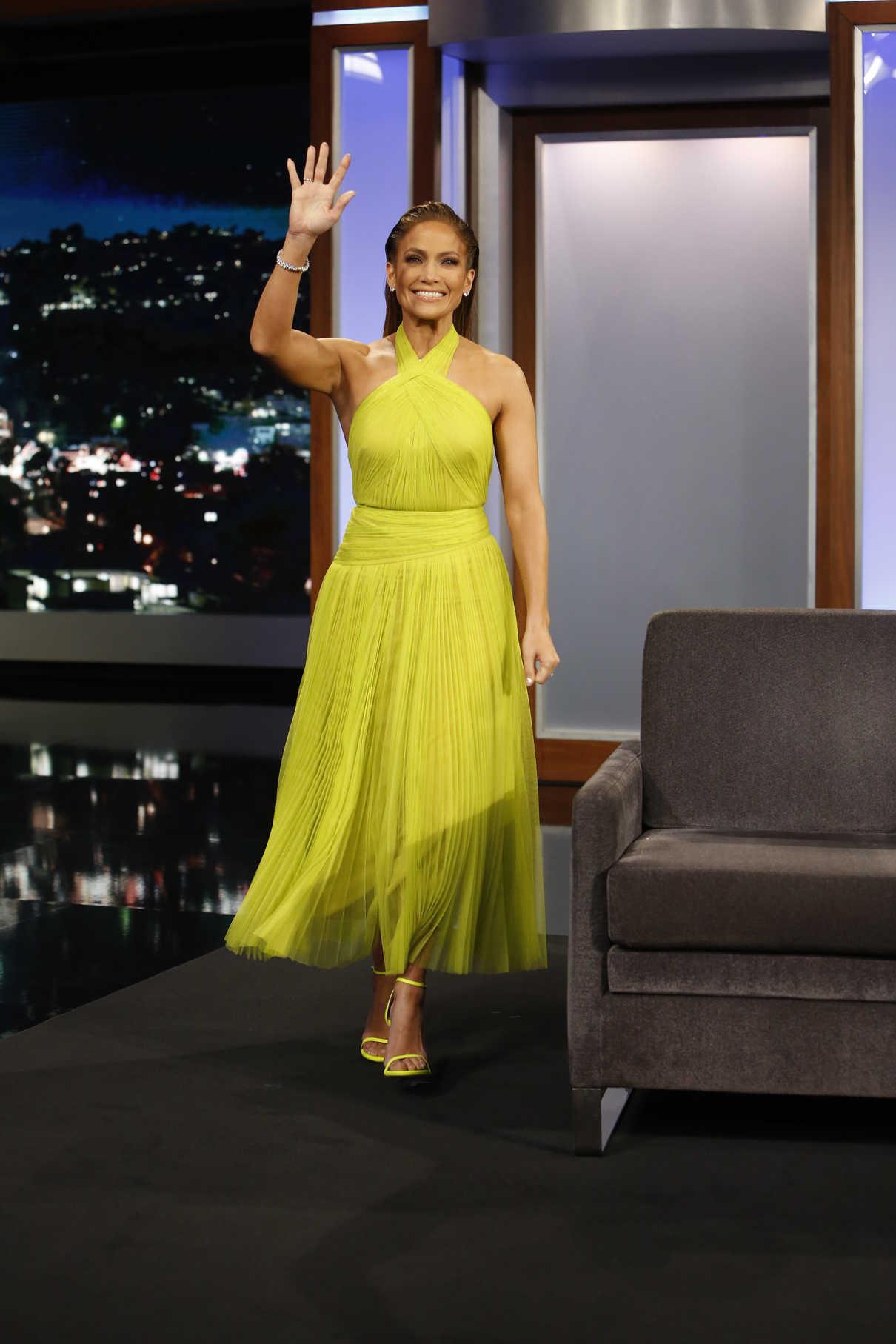 Jennifer Lopez in a Yellow Dress