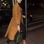 Karlie Kloss in an Orange Trench Coat