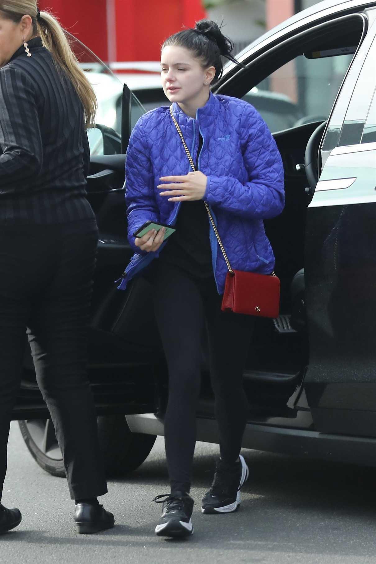 Ariel Winter in a Blue Jacket