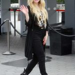 Avril Lavigne Arrives on Set at Extra in Universal City 02/27/2019