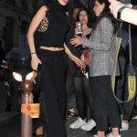 Bella Hadid in a Black Pants