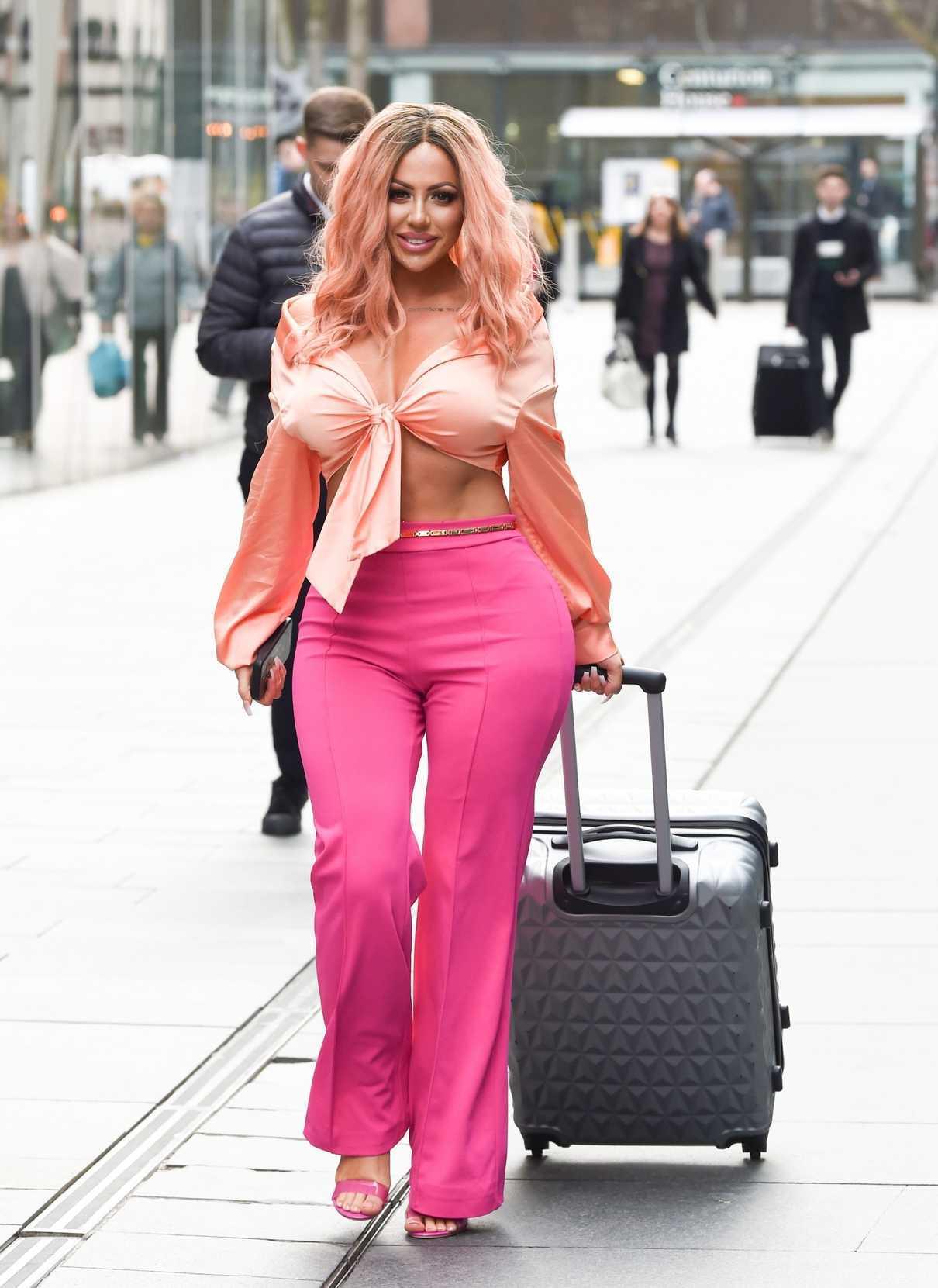 Holly Hagan in a Pink Pants