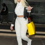 Jordyn Woods in a White Suit Arrives to Her Hotel in London 03/26/2019