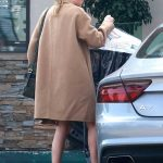 Kate Bosworth in a Beige Coat