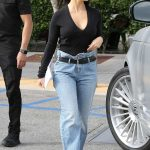 Kourtney Kardashian in a Blue Jeans