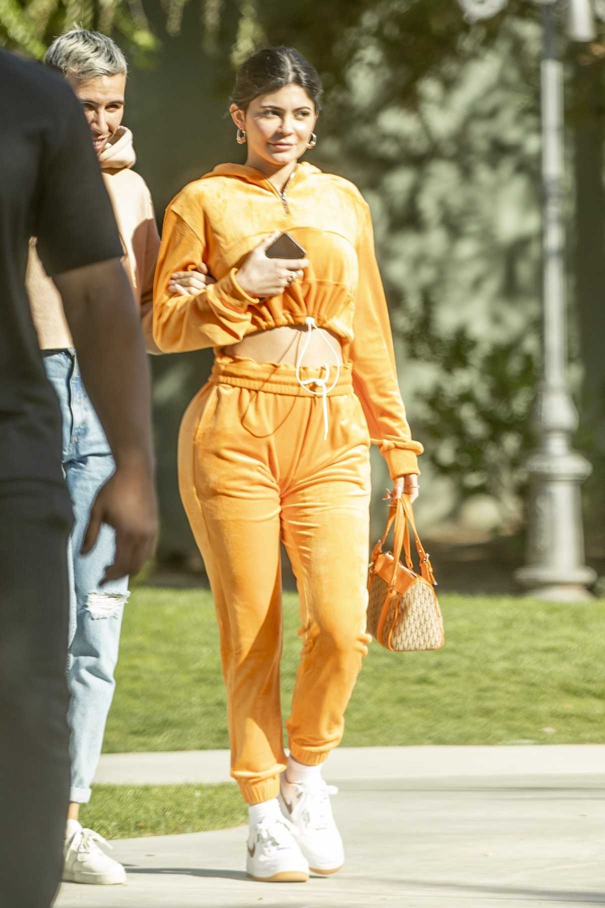 Kylie Jenner in a Yellow Tracksuit