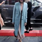Mandy Moore in a Blue Coat
