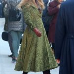 Nicole Kidman in a Green Coat