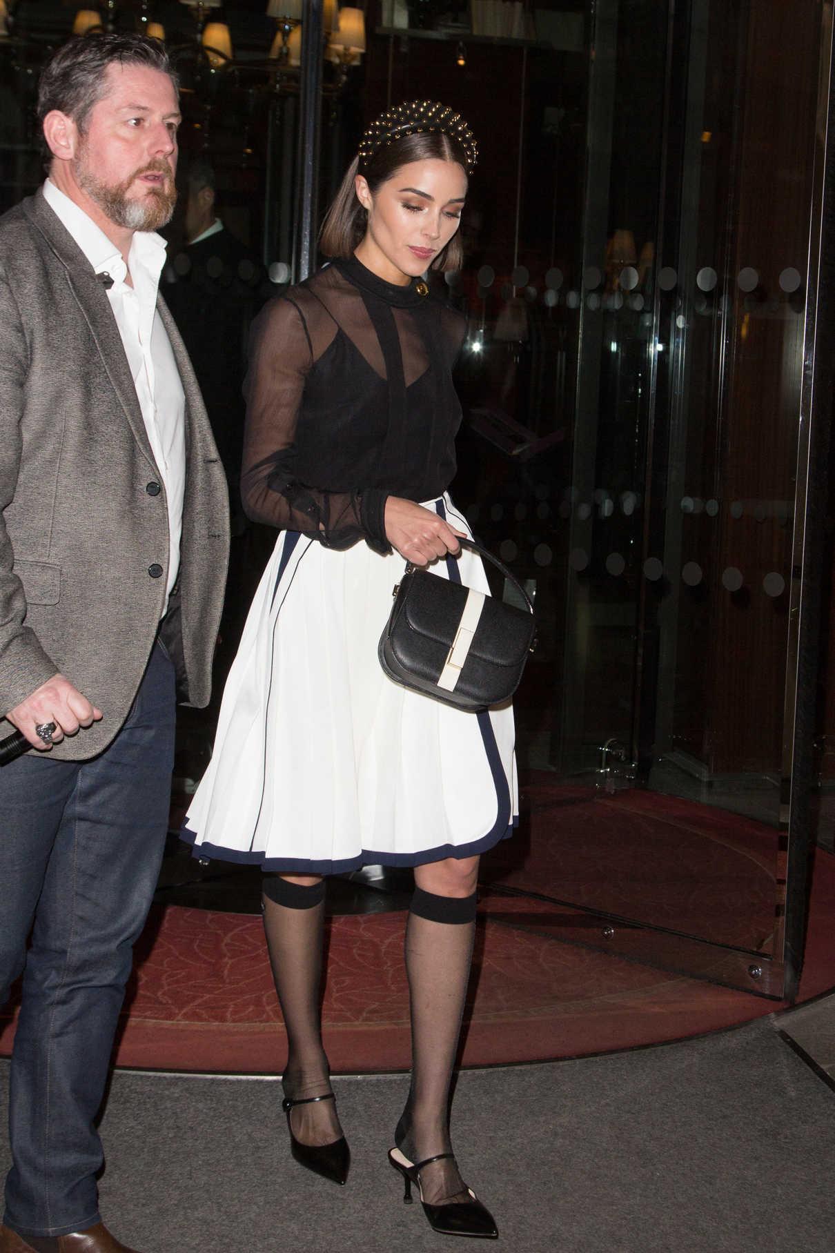 Olivia Culpo in a White Skirt