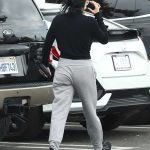 Ariel Winter in a Gray Sweatpants