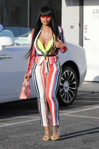 Blac Chyna in a Striped Suit