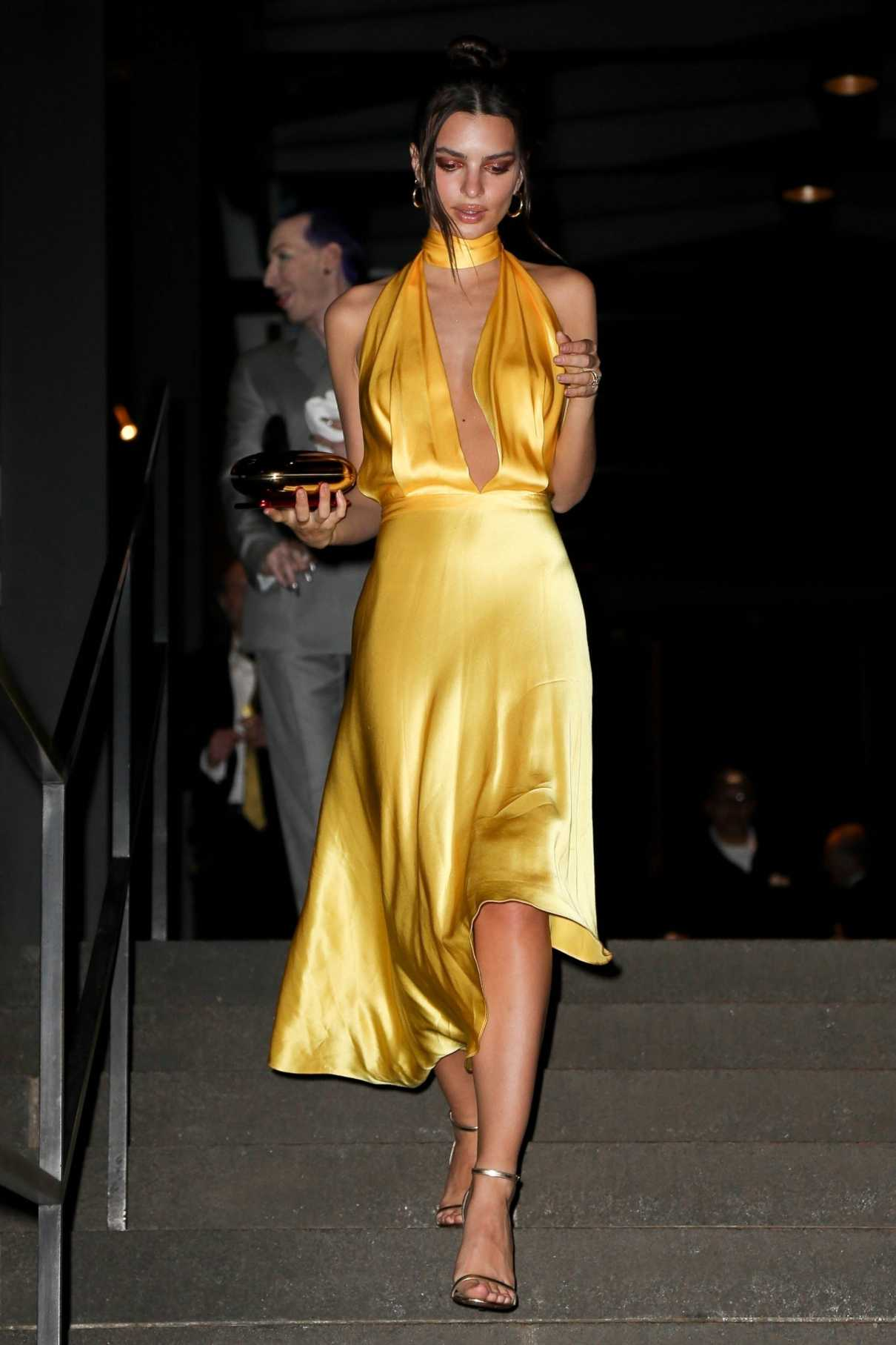 Резултат слика за emily ratajkowski yellow dress wedding