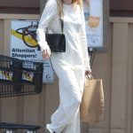 Emma Roberts in a White Maxi Dress