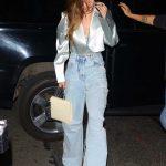 Gigi Hadid in a Silver Blazer
