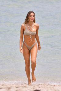 Joy Corrigan in a Beige Bikini