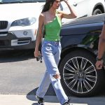 Kendall Jenner in a Blue Ripped Jeans