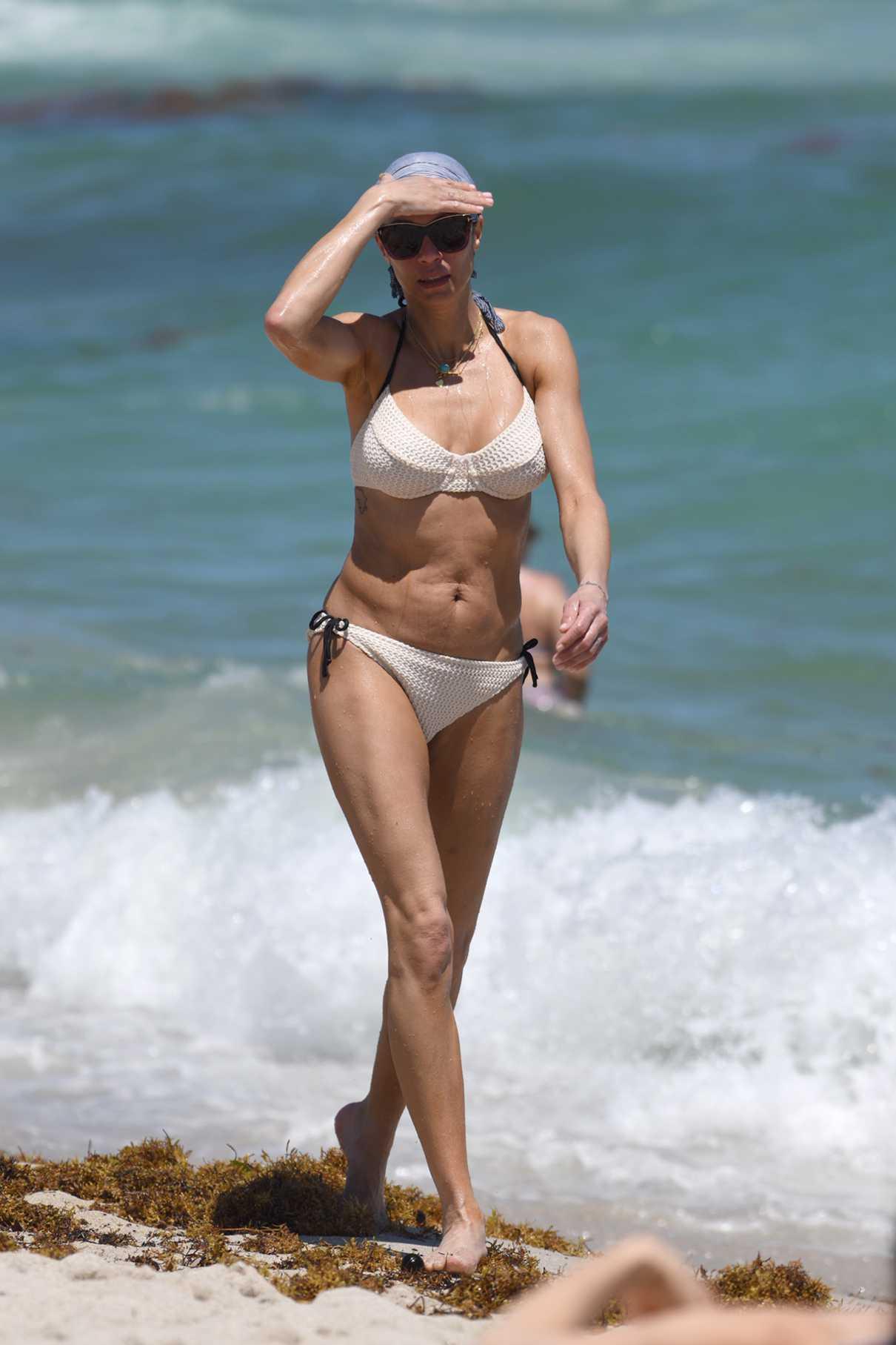 Lilly Becker in a White Bikini
