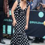 Lindsay Price in a Black Polka Dot Dress