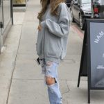Madison Beer in a Blue Ripped Jeans