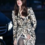 Monica Bellucci in a Leopard Print Dress