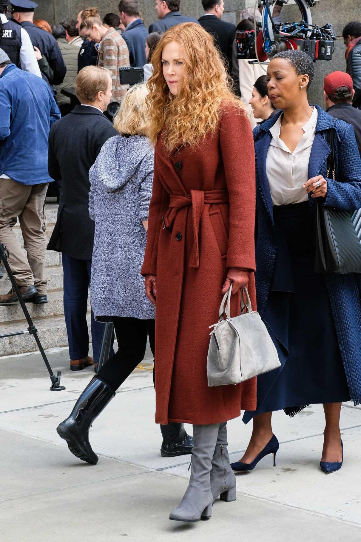 Nicole Kidman in a Red Coat