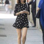 Ana de Armas in a Short Black Dress