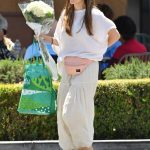 Elizabeth Olsen in a White Blouse