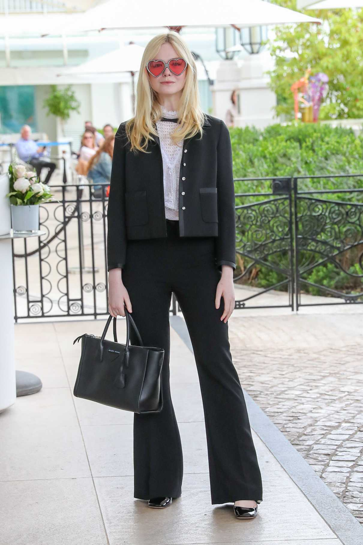 Elle Fanning in a Black Pants