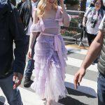 Elle Fanning in a Purple Dress